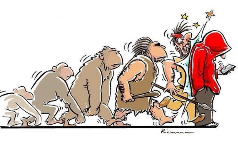 Сборник хлестких комиксов на тему эволюции