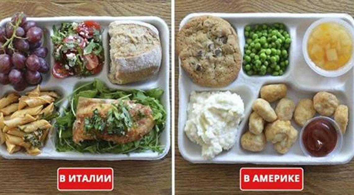 Разница питания детей на школьных обедах в разных уголках мира