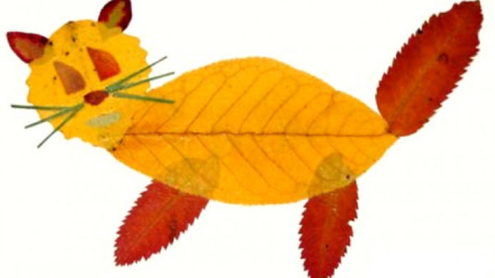 Если вашему ребенку зададут сделать поделки из листьев, вот несколько примеров