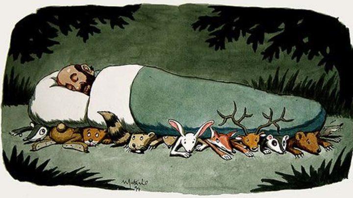 Итальянский художник изображает темную сторону реальности в юмористических иллюстрациях