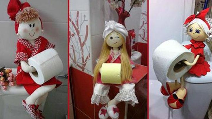 Интересный декор в неожиданном месте: Оригинальные идеи держателей для туалетной бумаги